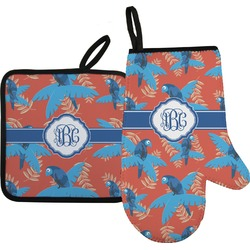 Blue Parrot Oven Mitt & Pot Holder (Personalized)