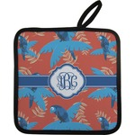 Blue Parrot Pot Holder w/ Monogram