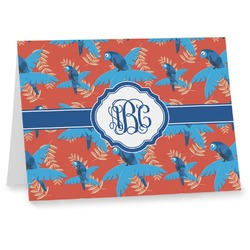 Blue Parrot Notecards (Personalized)