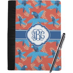 Blue Parrot Notebook Padfolio (Personalized)