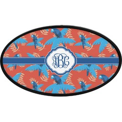Blue Parrot Oval Trailer Hitch Cover (Personalized)