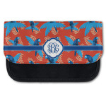 Blue Parrot Canvas Pencil Case w/ Monogram