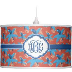 Blue Parrot Drum Pendant Lamp (Personalized)