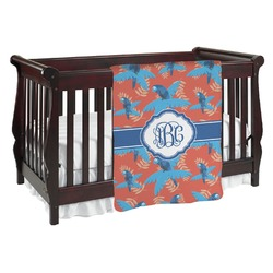 Blue Parrot Baby Blanket (Personalized)