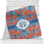 Blue Parrot Minky Blanket (Personalized)