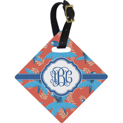 Blue Parrot Diamond Luggage Tag (Personalized)