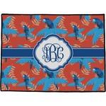 Blue Parrot Door Mat (Personalized)