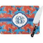 Blue Parrot Rectangular Glass Cutting Board (Personalized)