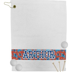 Blue Parrot Golf Towel (Personalized)