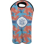 Blue Parrot Wine Tote Bag (2 Bottles) (Personalized)