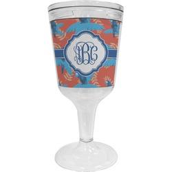 Blue Parrot Wine Tumbler - 11 oz Plastic (Personalized)
