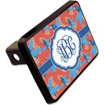 """Blue Parrot Rectangular Trailer Hitch Cover - 2"""" (Personalized)"""