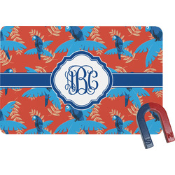 Blue Parrot Rectangular Fridge Magnet (Personalized)