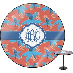 Blue Parrot Round Table (Personalized)