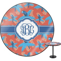 Blue Parrot Round Table Top (Personalized)
