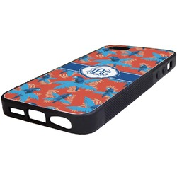 Blue Parrot Rubber iPhone 5/5S Phone Case (Personalized)