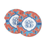 Blue Parrot Sandstone Car Coasters (Personalized)
