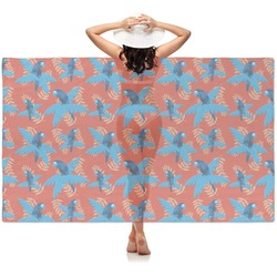 Blue Parrot Sheer Sarong (Personalized)