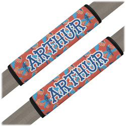 Blue Parrot Seat Belt Covers (Set of 2) (Personalized)