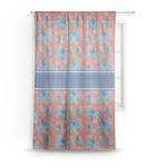 Blue Parrot Sheer Curtains (Personalized)