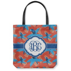 Blue Parrot Canvas Tote Bag (Personalized)