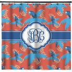 Blue Parrot Shower Curtain (Personalized)