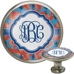 Blue Parrot Cabinet Knob (Silver) (Personalized)