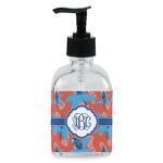 Blue Parrot Soap/Lotion Dispenser (Glass) (Personalized)