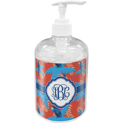 Blue Parrot Acrylic Soap & Lotion Bottle (Personalized)