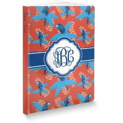 "Blue Parrot Softbound Notebook - 5.75"" x 8"" (Personalized)"
