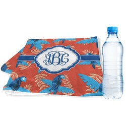 Blue Parrot Sports Towel (Personalized)