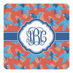 Blue Parrot Square Decal - Custom Size (Personalized)