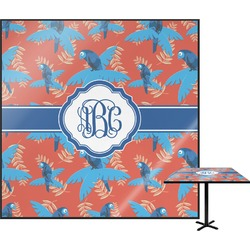 Blue Parrot Square Table Top (Personalized)