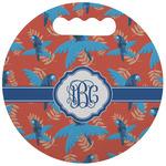 Blue Parrot Stadium Cushion (Round) (Personalized)