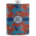 Blue Parrot Stainless Steel Flask (Personalized)