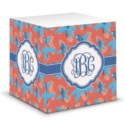 Blue Parrot Sticky Note Cube (Personalized)