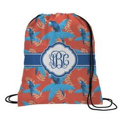 Blue Parrot Drawstring Backpack (Personalized)