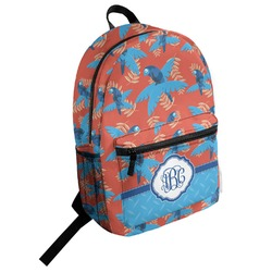 Blue Parrot Student Backpack (Personalized)