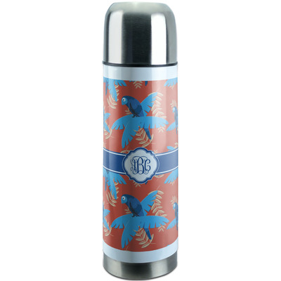 Blue Parrot Stainless Steel Thermos (Personalized)