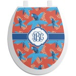 Blue Parrot Toilet Seat Decal (Personalized)