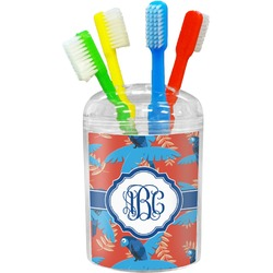 Blue Parrot Toothbrush Holder (Personalized)