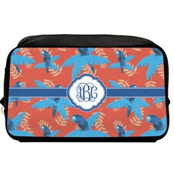 Blue Parrot Toiletry Bag / Dopp Kit (Personalized)