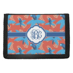 Blue Parrot Trifold Wallet (Personalized)