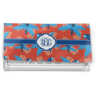Blue Parrot Vinyl Checkbook Cover (Personalized)
