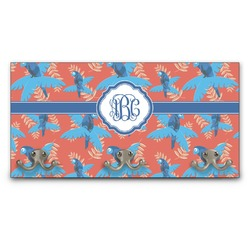 Blue Parrot Wall Mounted Coat Rack (Personalized)
