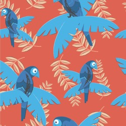 Blue Parrot Wallpaper & Surface Covering