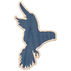 Blue Parrot Genuine Maple or Cherry Wood Sticker (Personalized)