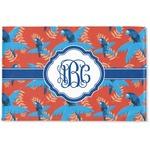 Blue Parrot Woven Mat (Personalized)