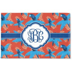 Blue Parrot Woven Mat (Personalized)