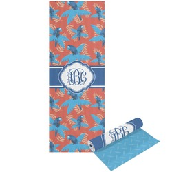 Blue Parrot Yoga Mat - Printable Front and Back (Personalized)